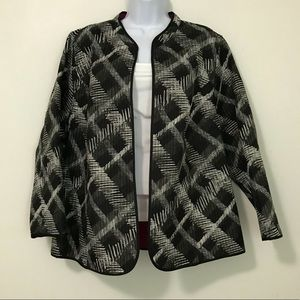 CATHERINES QUILTED REVERSIBLE JACKET PLUS SIZE